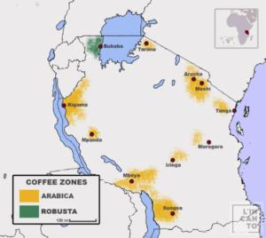 кафе на зърна танзания